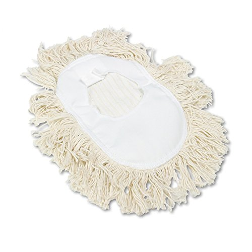 Boardwalk BWK1491 Wedge Dust Mop Head, Cotton, 17 1/2l x 13 1/2w, White (Wedge Dust Mop)