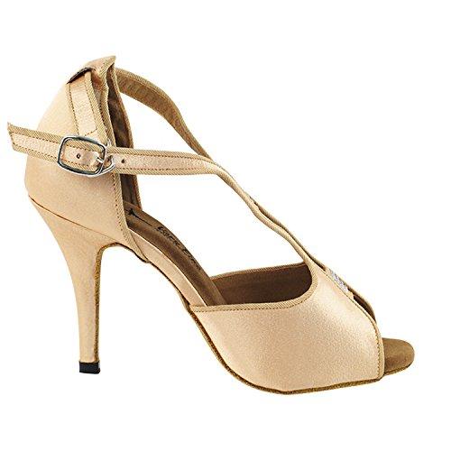 Gouden Duiven Schoenen Feest Feest 2825ledss Comfort Avondjurk Pump Sandalen, Dames Ballroom Dansschoenen (2.75, 3 & 3.5 Hoge Hakken) 2825l- Lichtbruin Satijn