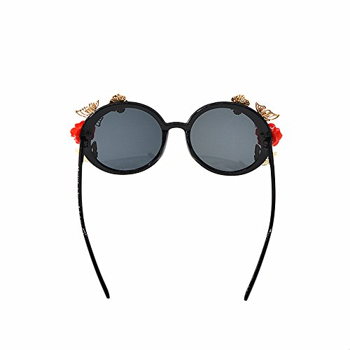 unisexe de Plage Show Mode de Lunettes de voyage Rétro soleil Baroque Pour Lunettes Style pêche de Papillon Pour Rose élégant Lunettes rétro Soleil Style Femmes Classique soleil Élégance la en Rouge EzZnRqw