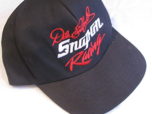 NASCAR Size Small-Medium Adult Vintage Dale Earnhardt Sr Snap-On Snap On Racing Black with Red & White Accents Hat Cap Plastic Snap Back Strap Sports Image