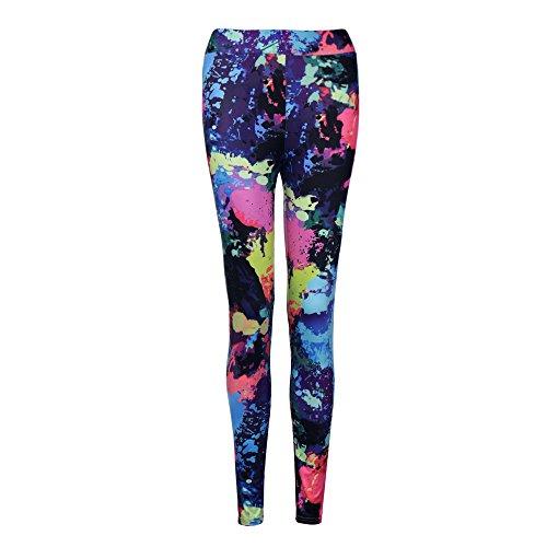 Rapide Décontracté Stretch De À Pantalon Impression Gymnastique Grande Femme Yoga Pour Exercice Slim Taille Haute Séchage Jeans Graffiti Chic Rouge Lubity Sport Leggings TgwqP
