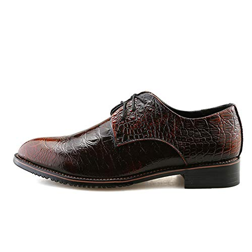 Nero Business uomo casual Crocodile Pelle Oxford Scarpe Uomo punta EU appuntita Color Xiaojuan shoes a di 40 Scarpe Marrone Dimensione da EI0Aaqw