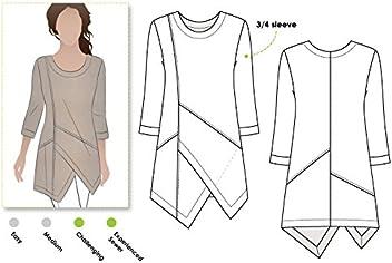 4c570033577 Style Arc Sewing Pattern - Lani Woven Tunic (Sizes 18-30) - Click