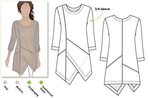 Style Arc Sewing Pattern - Lani Woven Tunic (Sizes 18-30) - Click for Other Sizes Available - $16.99