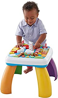 Baby will find a new place (and tons of activities) to discover around every corner of this learning table. Head to the zoo and spin the roller to hear songs about animals – or press buttons to learn shapes in English & Spanish. Take a trip to th...