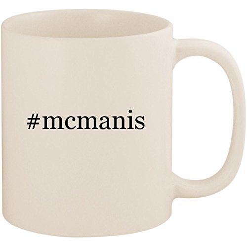 #mcmanis - 11oz Ceramic Coffee Mug Cup, White