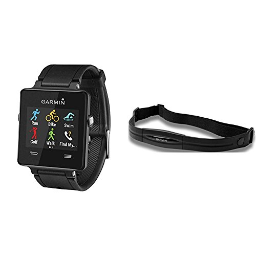 Garmin vívoactive Black W/Heart Monitor (Regular Strap)