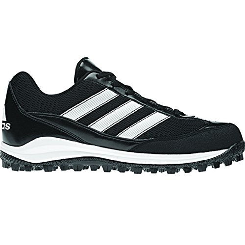 adidas Performance Men's Turf Hog LX Low Football Cleat, Black/White/Black, 12.5 M US