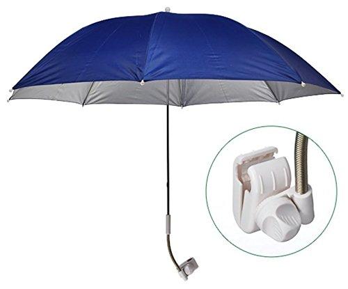 Universal Schirm Sonnenschirm Regenschirm Sonnenschutz Balkon-Schirm flexibel Ø 120cm mit Befestigungsvorrichtung