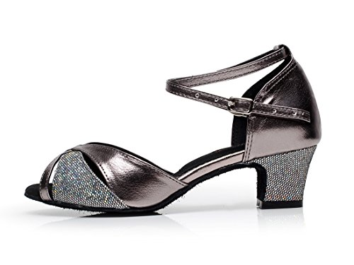 Minishion Mujeres Comfort Colorful Chunky How Heel Zapatos De Baile Latino Negro