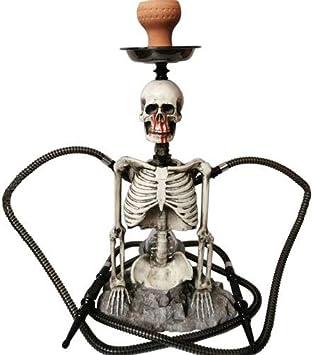 WJMT Los 57CM Shisha cachimba cachimba LED Conjunto Creativo cráneo de la Resina del Tubo de Agua de Doble Manguera Cachimba por Mejor Narguile Fumar