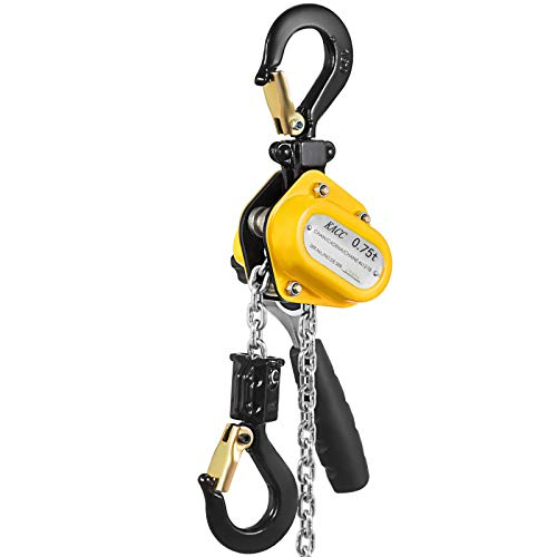 Mophorn 0.75T 1650LBS Lever Block Chain Hoist 1.5M 5FT Mini Manual Chain Hoist Alloy Steel G80 Chain Ratchet Lever Hoist with Hook