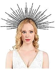 Zivyes Halo Crown Sunburst Spike Crown Mary Headband Women's Halloween Costume Headpiece