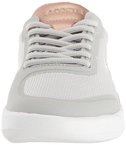 Lacoste Women's Light Spirit Elite 117 2 Fashion Sneaker, Light Grey, 8.5 M US