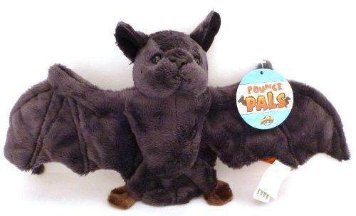 Pounce Pal Black Bat Plush Stuffed Animal -