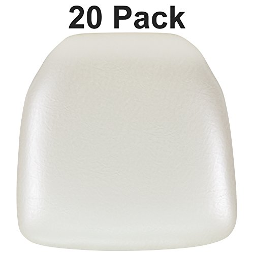 (Flash Furniture 20 Pk. Hard Ivory Vinyl Chiavari Chair Cushion)