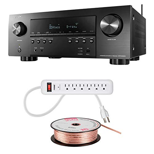 Denon AVR-S940 Receiver, 185W Power, 7.2 Channel 4K Ultra HD Video, Amazing 3D Dolby Surround Sound, Music Streaming System, Alexa Control, HEOS Wireless Speaker Expansion, TV - 3 Piece -