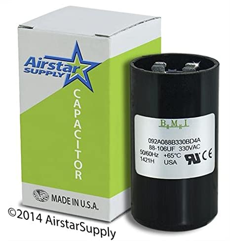 TEMCo 88-106 MFD uF Electric Motor Start Capacitor 330V HVAC 330 vac v volt