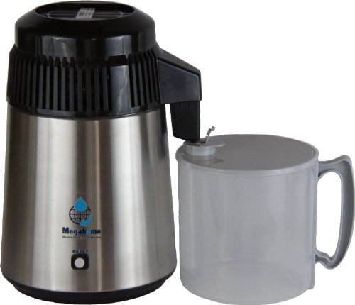 Nutriteam Countertop Water Distiller Stainless, Plastic Collection by MegaHome