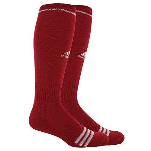 adidas Unisex Rivalry Baseball 2-Pack Otc sock, University Red/White, Large