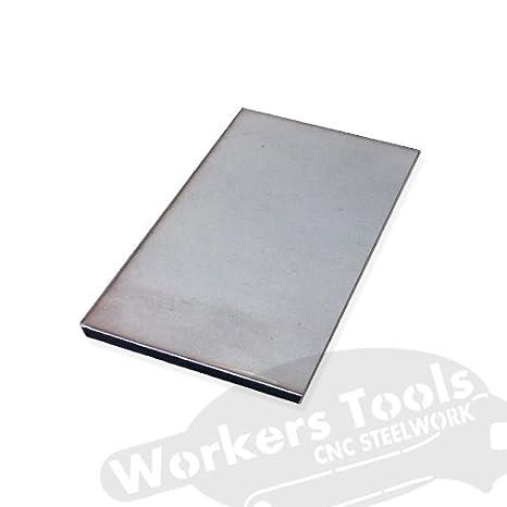 80 x 500 mm, 3 mm Flachstahl Edelstahl 500 mm V2A 1.4301 Stahlplatte Rostfrei 30 bis 100 mm,