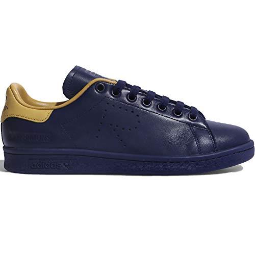 adidas by RAF Simons Men's Stan Smith Night Sky/Night Sky/Honey Gold 7 D - Honey Womens Adidas