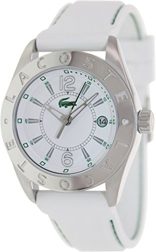 Lacoste Women's Sport 2000507 White Rubber Analog Quartz Watch with White Dial