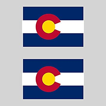 Two pack colorado state flag sticker fa graphix decal america american
