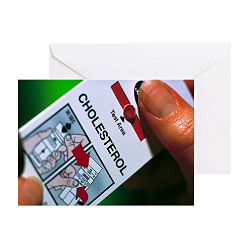 CafePress Blood Cholesterol Testing Greeting Cards (Pk Of Greeting Card (10-pack), Note Card with Blank Inside, Birthday Card Glossy
