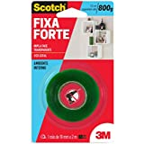 Fita Dupla Face 3M Scotch Fixa Forte Transparente - Uso Interno - 19 mm x 2 m, Scotch, HB004419881