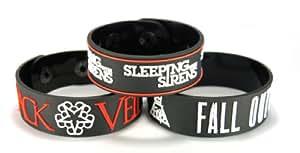 Velo negro novias y Fall Out Boy y dormir con las sirenas notebookbits 3 piezas (3x) pulsera B3Fos2
