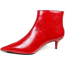 Zara Women Red mid-heel ankle boots 7141/201 (38 EU | 7.5 US | 5 UK)