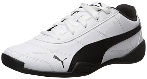 PUMA unisex-child Tune Cat 3 Kids Sneaker , Puma White/Puma Black, 5 M US Big Kid