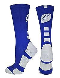 Football Logo Athletic Crew Socks (multiple colors)