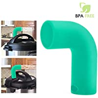 Steam Release Accessory Diverter Fits Instant pot 3, 5, 6, 8 Qt Duo & Smart Models Only, Made By High Grade Food Silicone,Helps Protect Cabinets-Green