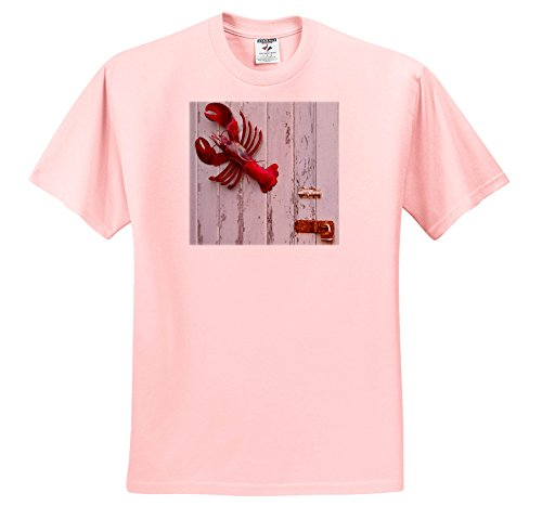 3dRose Danita Delimont - Objects - USA, Maine, Freeport, Lobster Pound, Lobster Toys - T-Shirts - Adult Light-Pink-T-Shirt 4XL - Shops Freeport Maine