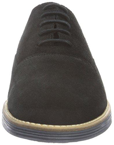 Zapatos Cordones 10 para de Black Suede CAS Bianco Negro Shoe Hombre JJA16 UwnxH7qgI