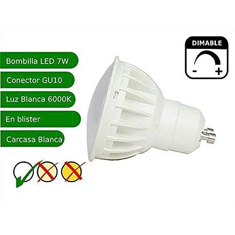 Jandei - Bombilla led regulable GU10 7W blanco frio 6000K: Amazon.es: Iluminación