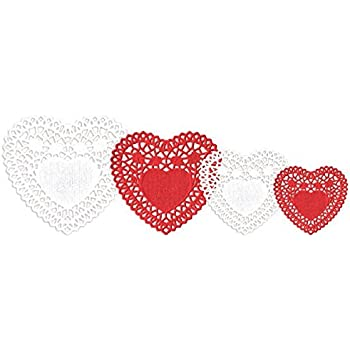 Amazon Paper Doilies 6 Heart 18pkg White Arts Crafts Sewing