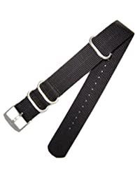 Genuine FN.3900.26.2 Luminox 22mm NATO/ Zulu Replacement Strap Band - Black Fit 3050 3950 8800 3000 NAVY SEAL EVO Colormark
