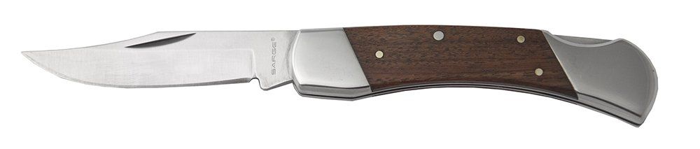 Sarge Knives SK-141RW Thorn 3.25 Inch Lockback Folding knife with Rosewood Handle 440c Stainless Steel
