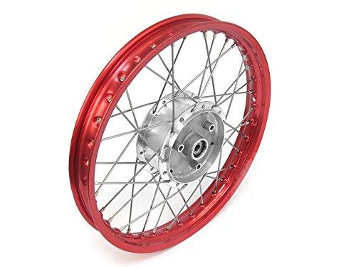 Felge 1,50x16 in Rot, Speichen in Edelstahl und Nabe Tuning Speichenrad 16 alle Moped-Typen