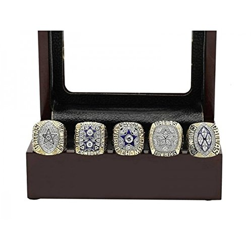 DAL' 1971 1977 1992 1993 1995 Cowboys Ring Display Box Set