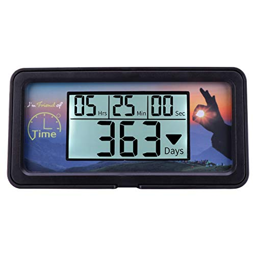 AIMILAR Digital Countdown Days Timer - 9999 Days Count Down Days Timer With Backlight for Retirement Wedding Vacation Christmas New Baby Classroom Lab Kitchen Cooking (Black) by AIMILAR (Image #1)