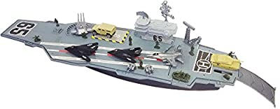 "27.5"" long Aircraft Carrier with Soldiers and 3 Aircrafts"