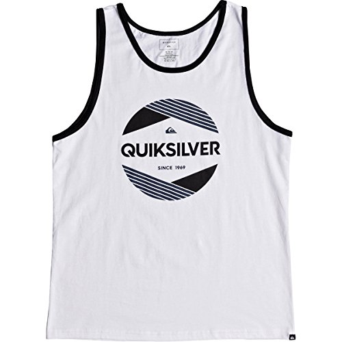 Quiksilver Men's Logo Tank TOP TEE Shirt, a Cut Above White, ()