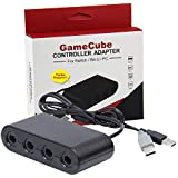 Gamecube Controller Adapter for Switch Wii U PC 4 Ports 2018 Version with Turbo Mode No Driver Needed Provide Best Super Smash Bros Game Experience
