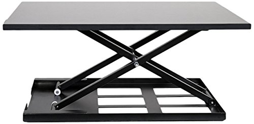 Best Buy Box Height Adjustable Standing Up Desk Converter Sit-Stand Desktop Riser, Standing Computer Monitor Workstation for Home and Office, Black by Best-Buy-Box