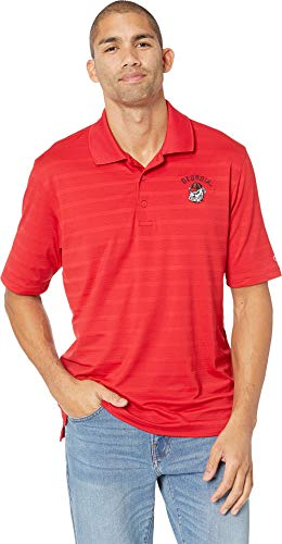 Champion College Men's Georgia Bulldogs Textured Solid Polo Scarlet 1 Medium ()