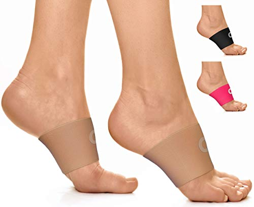 Compression Arch Support Sleeves for Men & Women (1 Pair) - Best Plantar Fasciitis Support Brace for Pain Relief, High Arch Pain, Flat Feet & Heel Spurs - Wear with Our Plantar Fasciitis Socks